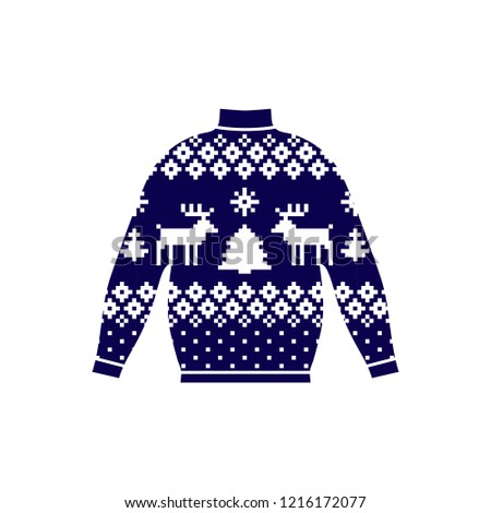 6cd2dee07b1ba3 Winter Warm Sweater Handmade Svitshot Jumper Stock Vector (Royalty ...