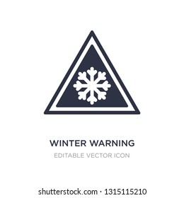 winter warning icon on white background. Simple element illustration from Weather concept. winter warning icon symbol design.