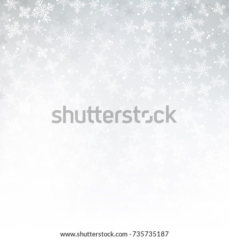Winter white background christmas made of snowflake and snow with blank copy space for your text, Vector illustration