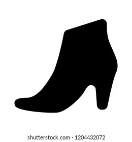 Winter woman shoe boots icon. Flat Winter boots design for web and mobile. woman high heel shoe illustration