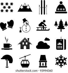 winter/alpine/ski pictograms