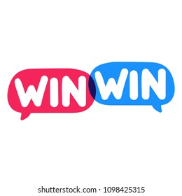 Win-win. Business concept. Vector illustration on white background.