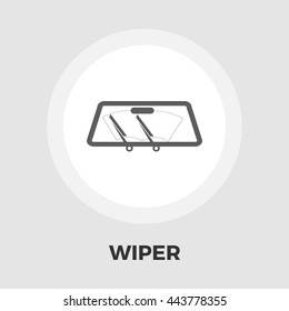 Wiper car icon vector isolated on the white background.