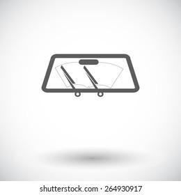 Wiper car. Single flat icon on white background. Vector illustration.