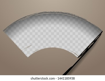 Wiper cleans windshield template background