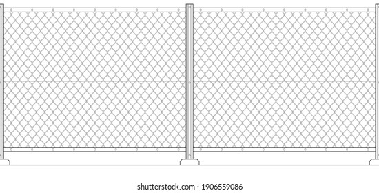 Wire chain link fence. Seamless background image