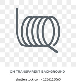 wire coil icon. wire coil design concept from Sew collection. Simple element vector illustration on transparent background.