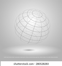 wire frame earth model vector
