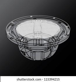 Wire Frame Speaker Woofer
