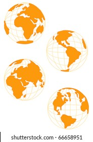 Wire Globe in Gold