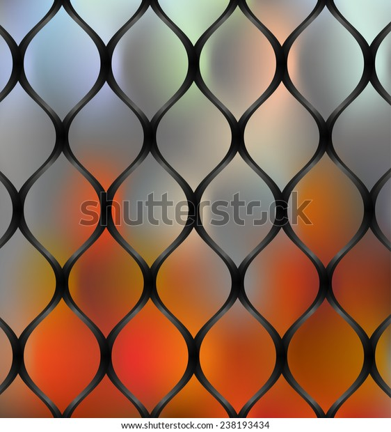 Wire Guard Fire Background Stock Vector (Royalty Free) 238193434