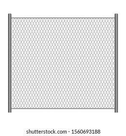 Wire mesh fence vector design illustration isolated on white background