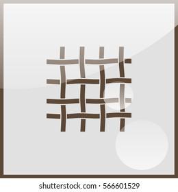 Wire mesh icon.