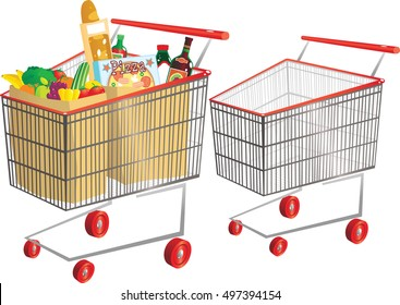 Wire shopping carts.