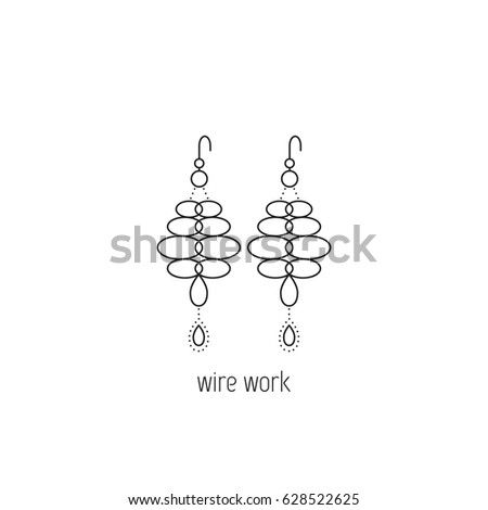 wire wrapping vector thin line icon stock vector royalty free