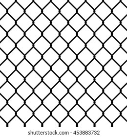wired fence, silhouette illustration. - Stock vector