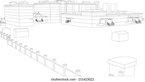 3d Sketches Stock Vectors Images Vector Art