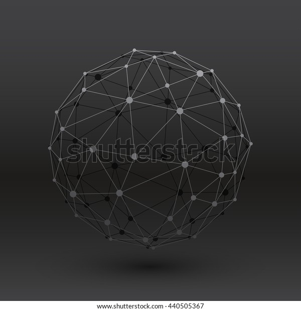 Wireframe Connection Structure : Vector Illustration