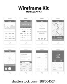 Wireframe Kit Mobile App v.3