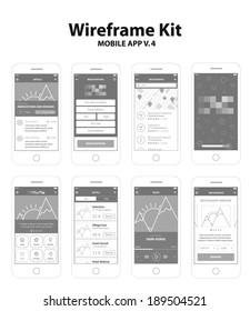 Wireframe Kit Mobile App v.4