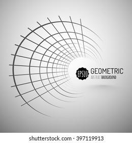 Wireframe Mesh Cylinder.  Connection Structure. Digital Data Visualization Concept. Vector Illustration.