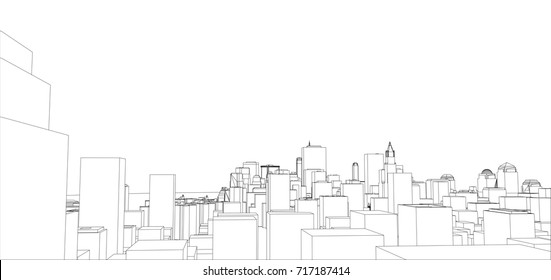 Road blueprint images stock photos vectors shutterstock wire frame new york city blueprint style 3d rendering vector illustration architecture malvernweather Gallery