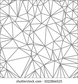 Wireframe polygonal abstract mesh.  Vector Polygon which consist of triangles. Geometric background in Origami style.