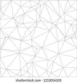 Wireframe polygonal abstract mesh.  Vector Polygon which consist of triangles. Geometric background in Origami or network style.
