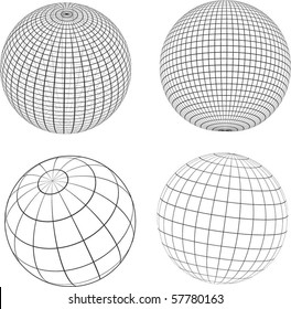 Wireframe spheres