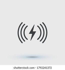 Wireless charging pictogram icon vector
