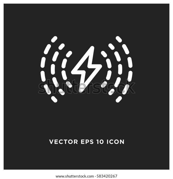 Wireless charging vector icon