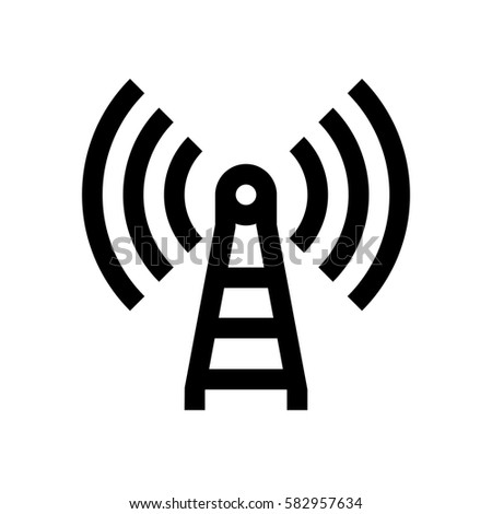 Wireless Connection Mini Line Icon Background Stock Vector Royalty