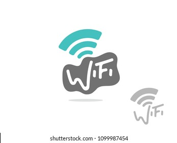 Wireless logo on white
