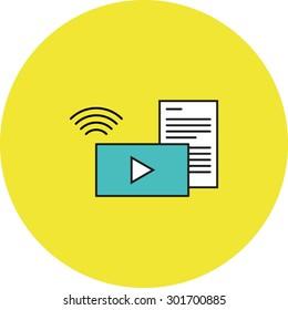 Wireless media icon