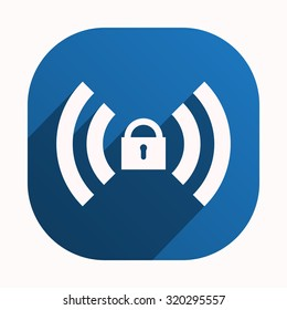 Wireless network access is closed, locked. icon. vector design