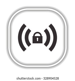 Wireless network access is closed, locked.  Modern design flat style icon