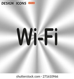 The wireless network. icon. vector design