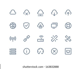Wireless network icons. Line series