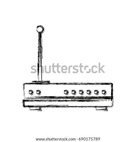 Wireless Network Router Switch Modern Digital Stock Vector