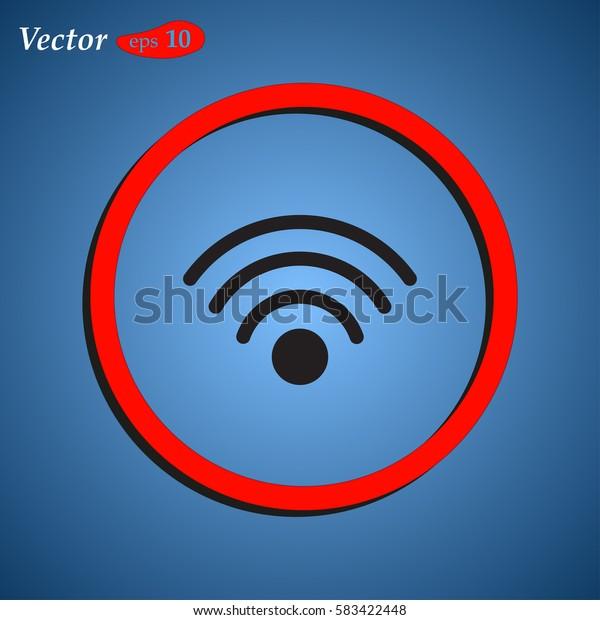 Wireless Network Symbol. Web design style.