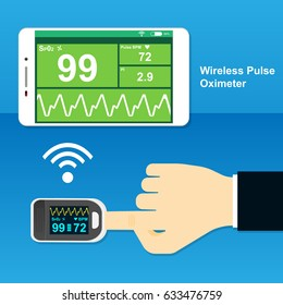 wireless pulse oximeter with smartphone app monitor