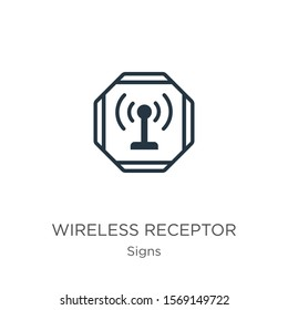Wireless receptor icon vector. Trendy flat wireless receptor icon from signs collection isolated on white background. Vector illustration can be used for web and mobile graphic design, logo, eps10