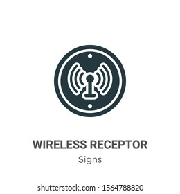 Wireless receptor vector icon on white background. Flat vector wireless receptor icon symbol sign from modern signs collection for mobile concept and web apps design.