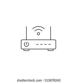 Wireless router thin line icon