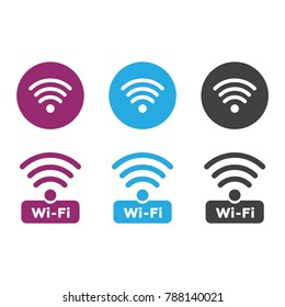 Wireless and wifi icons. Wireless Network Symbol wifi icon. Wireless and wifi vector