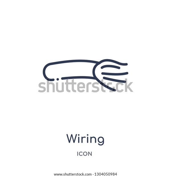 Wiring Icon User Interface Outline Collection Stock Vector Royalty Free 1304050984