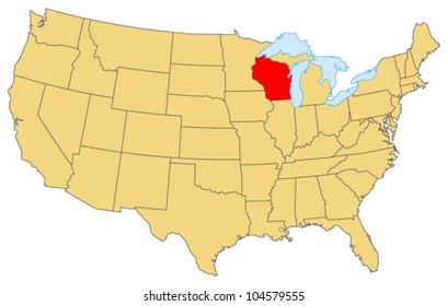 Wisconsin Locate Map