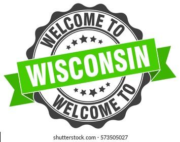 Wisconsin Welcome To Stamp