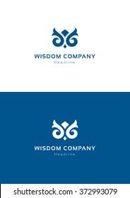 Wisdom company logo template.