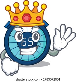 A Wise King of hourglass mascot design style